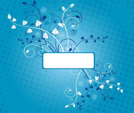 Blue background with frame for text Stock Vector - 2390444