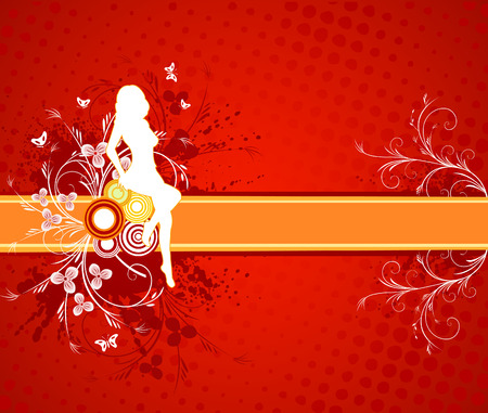 Abstract  artistic vector decor background illustration Vector