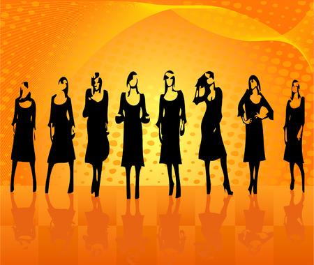 Fashion girls vector Stock Vector - 2449419