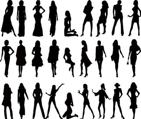 Fashion girls artistic vector Stock Vector - 2449424
