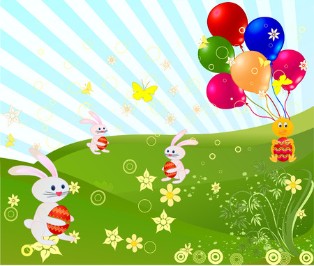 Easter background vector design decor artistic illustration Stock Vector - 2464952