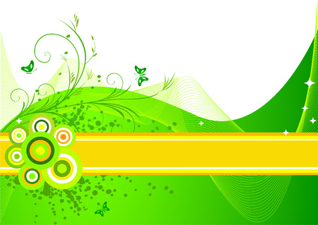 Floral  artistic vector  background illustration Vector