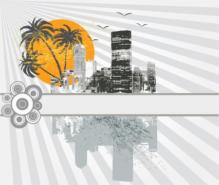 urban grunge: Urban grunge background - vector