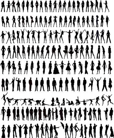 Vector silhouettes Illustration