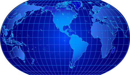 dotted world map: World map vector