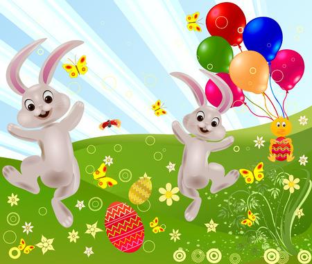 keepsake: Abstract easter rabbit vector illustration