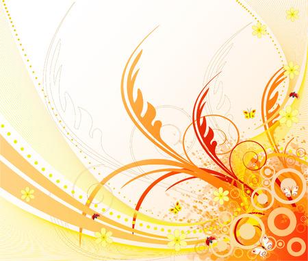 Floral  artistic vector design Vector