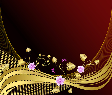 Abstract floral    background  vector design Ilustracja