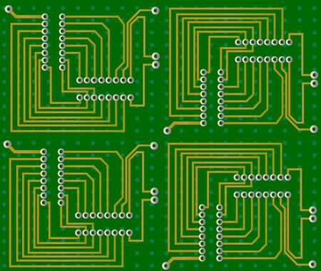 Electronic circuit vector Stock Vector - 2892863