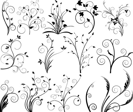 Floral elements for design - vector Stock Vector - 2892862