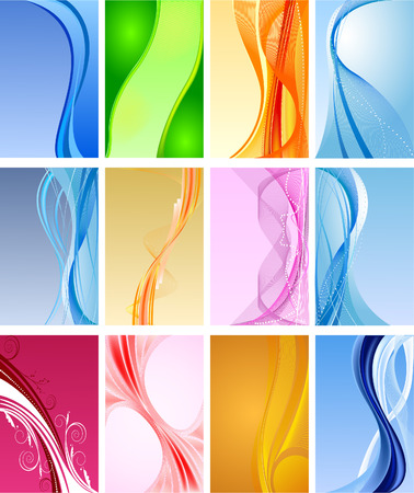 curls: Abstract    background  vector set Illustration