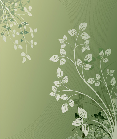 Floral Background - vector illustration Stock Vector - 3249854