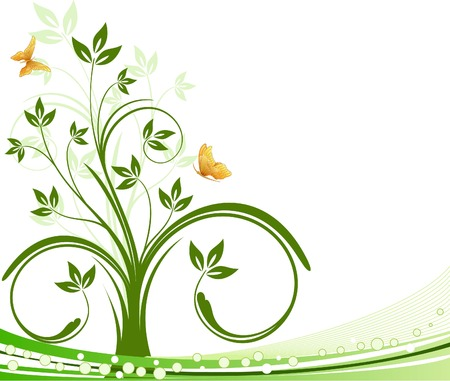 Abstract floral background vector Vector