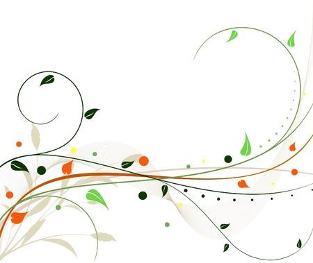 floral vector: Vector de dise�o floral