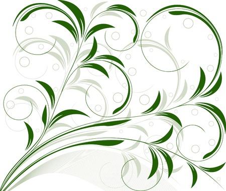 Floral   vector design  Stock Vector - 3287058