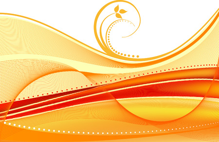 red swirl: Floral Background - vector illustration
