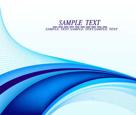 blue waves: Abstract background vector Illustration