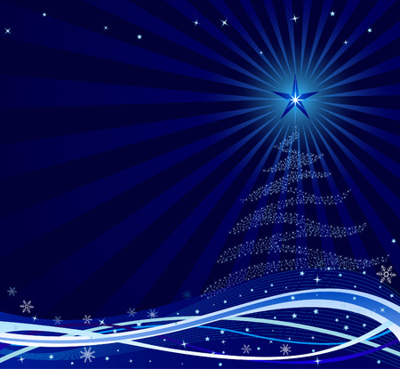Abstract Christmas background vector Vector
