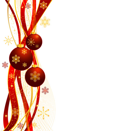 christmas scroll: Christmas vector background