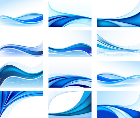 blue waves: Abstract     vector design