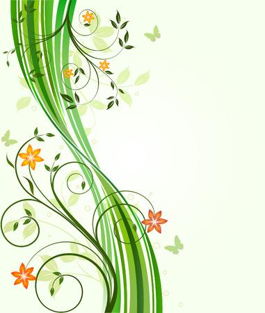 꽃 배경 - 벡터