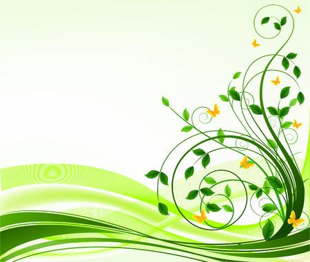 linee vettoriali: Floral disegno vettoriale