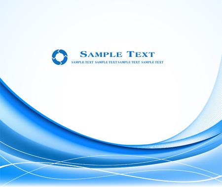 Blue abstract vector design