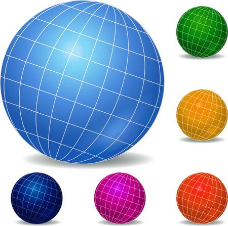 Globes icon set Vector