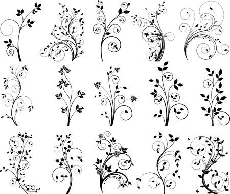 디자인을위한 꽃 요소