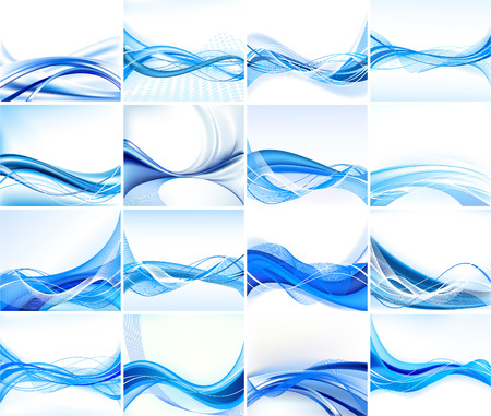 blue waves: Set of abstract backgrounds