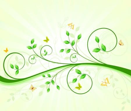 Floral design Stock Vector - 13358093
