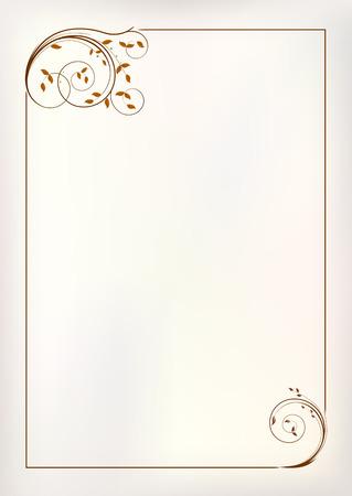 decoratif: Vector frame frontière millésime Illustration