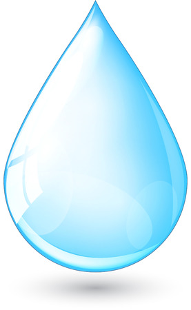 gotas de agua: Resumen ilustración gota de lluvia