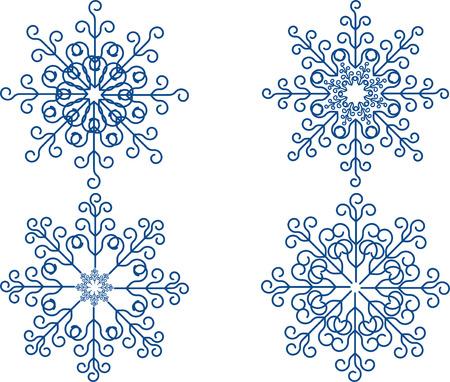 geometric shapes: Snowflake Vector Set