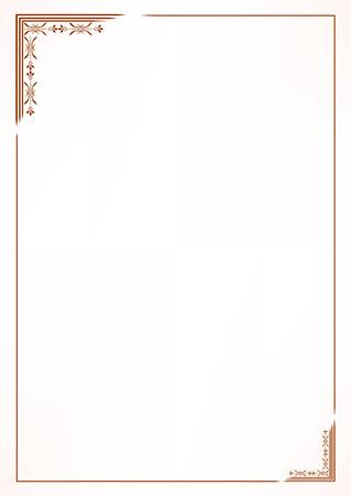 marcos decorativos: Vector marco de la frontera de la vendimia