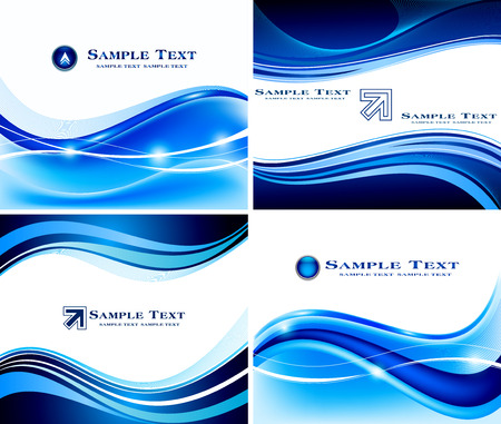 graphic background: Abstract blue background set
