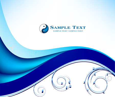 blue abstract: Abstract blue background Illustration