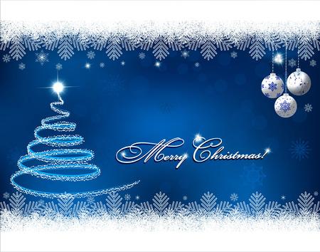 season's greeting: Christmas background with snowflakes Illustration