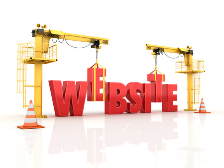 Building your Website - High Quality 3D Render. 版權商用圖片 - 33825779
