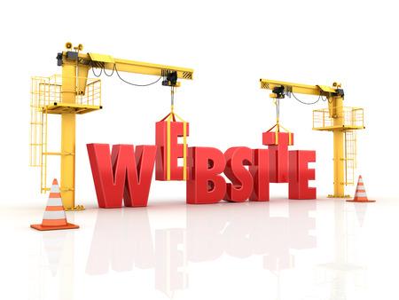 Building your Website - High Quality 3D Render.