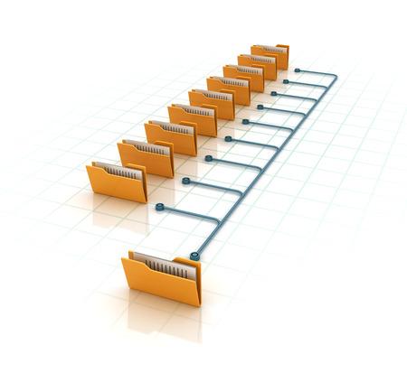 Data File Folders - High Quality 3D Render.