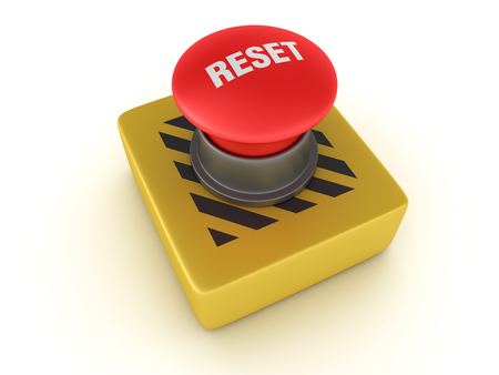 Buttons Switch Series - RESET - High Quality 3D Rendering Stock Photo