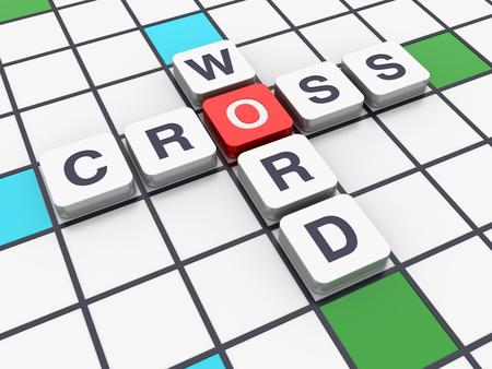 crossword: Crossword Series - CROSSWORD - High Quality 3D Rendering