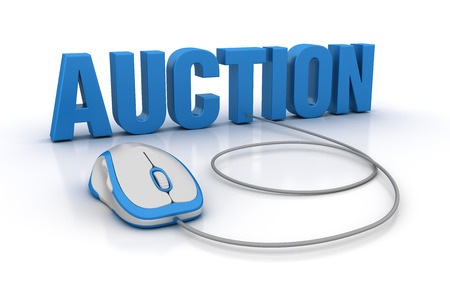 AUCTION Word with Computer Mouse - High Quality 3D Rendering