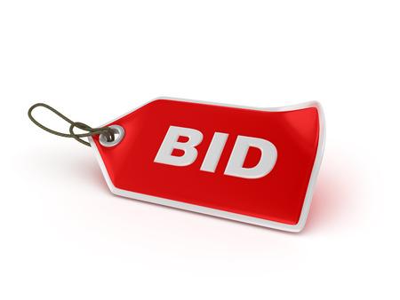 bid: Cesta de la Serie de la etiqueta: BID - alta calidad 3D Rendering