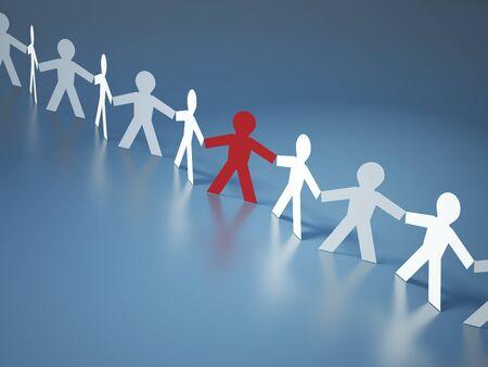 Teamwork Pictogram People - High Quality 3D Rendering