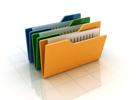 Computer Folders - High Quality 3D Rendering
