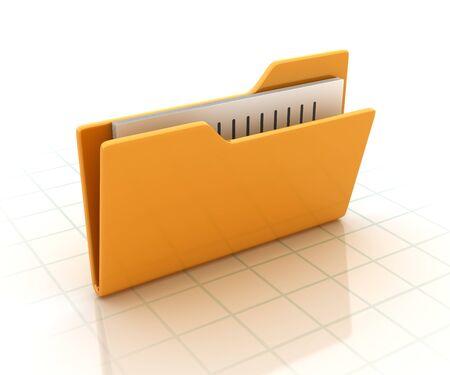 Computer Folder - High Quality 3D Rendering