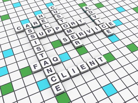 Crossword Series: SUPPORT - High Quality 3D Rendering 写真素材