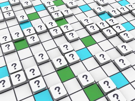 Crossword Series: QUSTION MARK - High Quality 3D Rendering